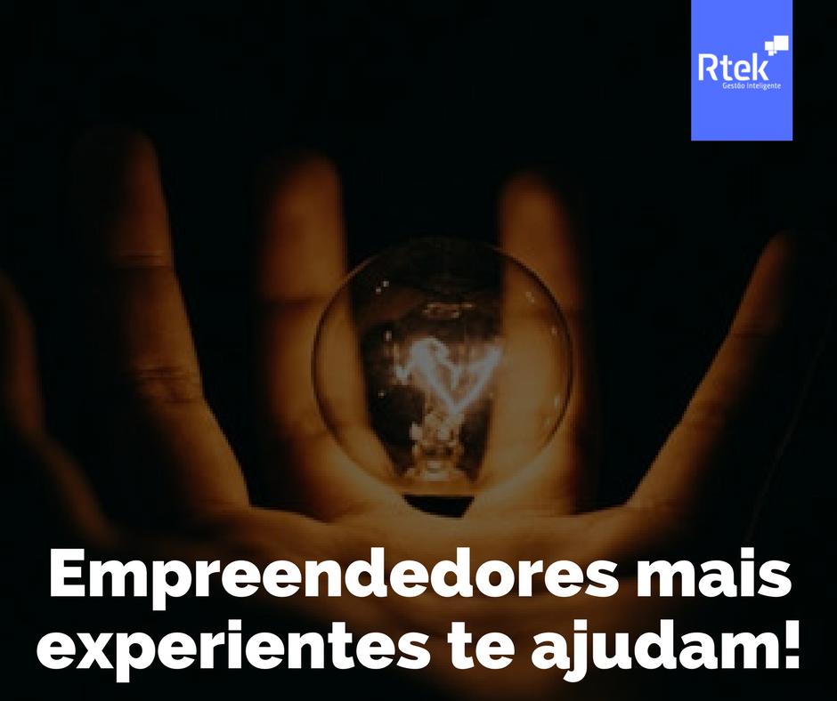 Compartilhe suas ideias com empreendedores mais experientes
